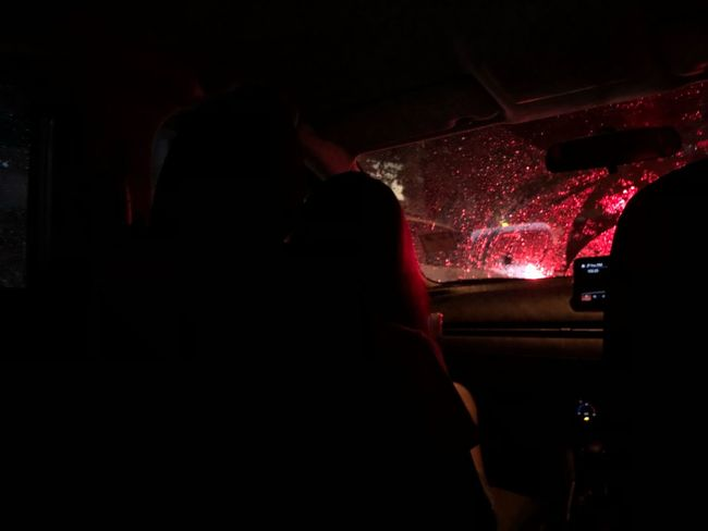 Dramatic Car Night Mode Of Transportation Land Vehicle Transportation Indoors  Red Dark Lifestyles
