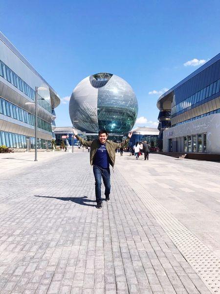 Astana Expo Smile Happy Futururistic BuildingMen Modern Building Exterior Built Structure Second Acts EyeEmNewHere