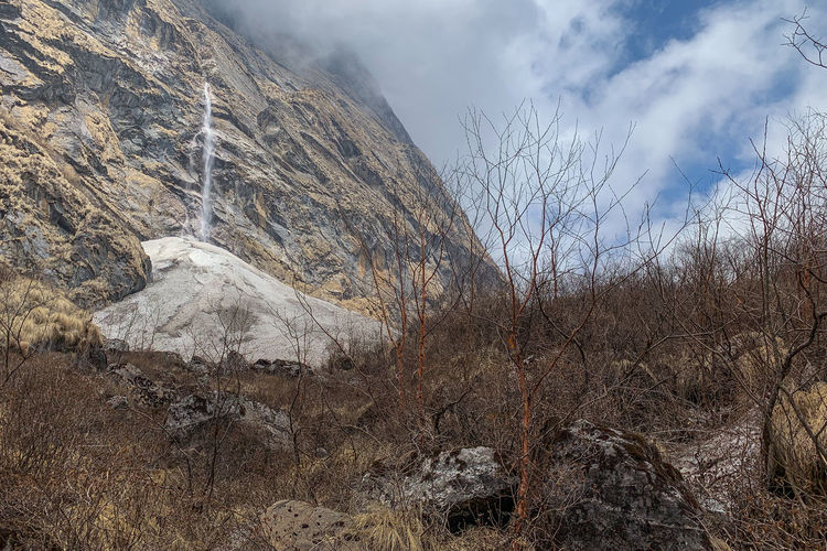 Annapurna Waterfall Nature Mountain Environment Landscape Outdoors Annapurna Annapurna Conservation Area Nepal Nepal Travel Waterfall Cliff Himalayas Himalaya Dry Tree Scenics - Nature Nature Annapurna Mountain Range Geology Iphonephotography IPhone Photography IPhoneXR Stay Out My Best Photo The Mobile Photographer - 2019 EyeEm Awards