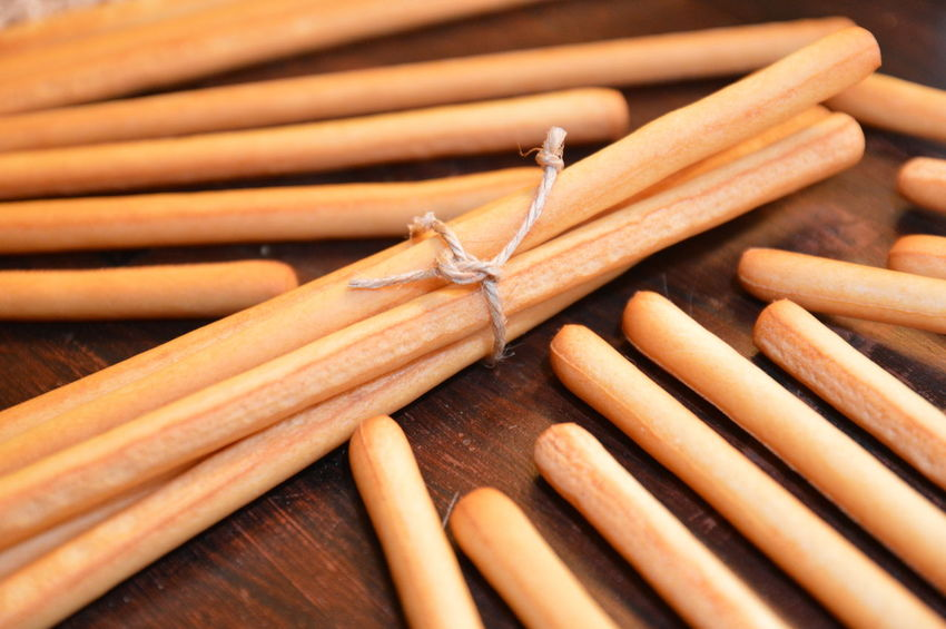 grissini italian rustic snack Stick - Plant Part Wood - Material Tied Up Arts Culture And Entertainment No People Close-up Day