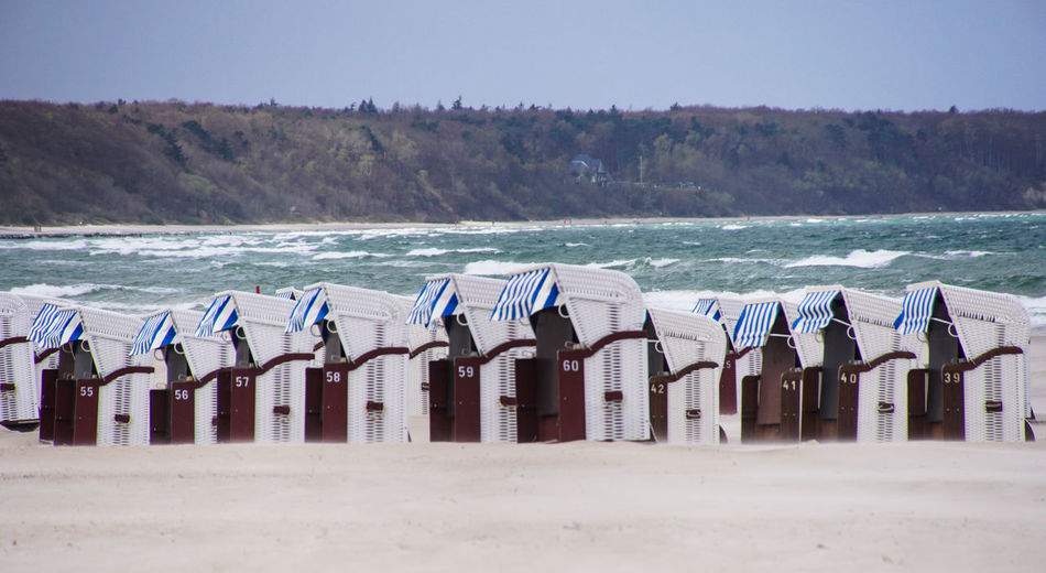 Hooded Beach Chairs By Sea