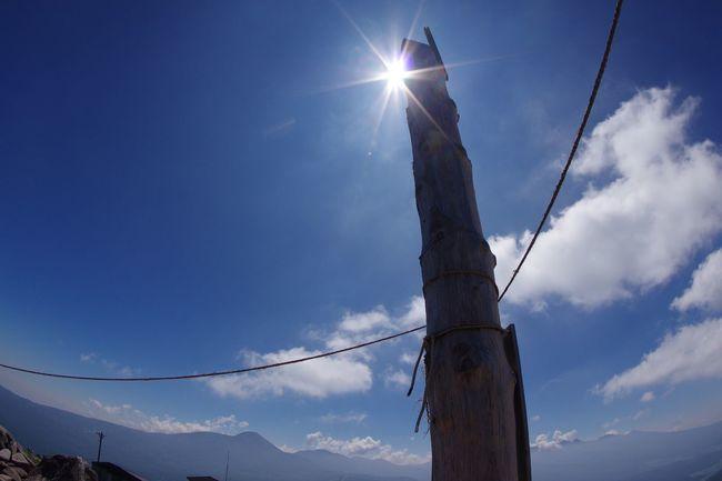 車山山頂 車山神社 御柱 Pentax K-3 長野 山頂 車山高原 夏空 Sky Sunlight Sun Blue