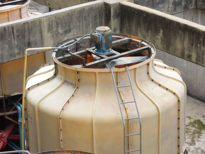 condensing unit on building Building Condensing Condensing Unit Day Equipment Outdoors Terrace Tower
