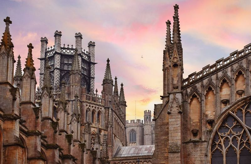 Ely cathedral Gothic Architecture Gothic Style Crown Octagon Christianity Built Structure Architecture Building Exterior Sky Cloud - Sky Building Sunset Place Of Worship Religion Nature Travel Destinations Low Angle View City No People Gothic Style Belief The Past Outdoors