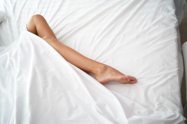 Foot in bed