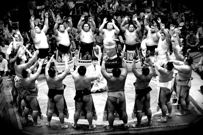 Sumo Champions Check This Out Japanese Culture Blackandwhite Monochrome Japan Japan Photography Black & White B&w Street Photography Sports Photography Sumo Basho