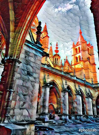 Catedral León - España Architecture Built Structure Building Exterior Travel Destinations History Travel City No People Low Angle View Day Place Of Worship Indoors  Sky