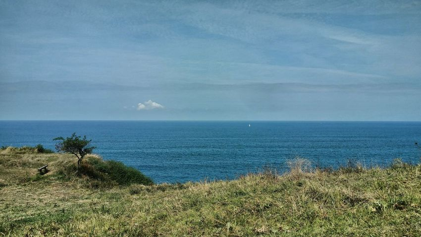 Kobaron Euskalherria Bizkaia Sea Water Land Beauty In Nature Sky Scenics - Nature Horizon Over Water