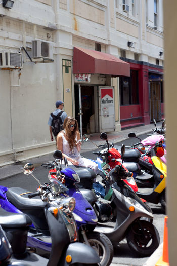 View of people riding motorcycle