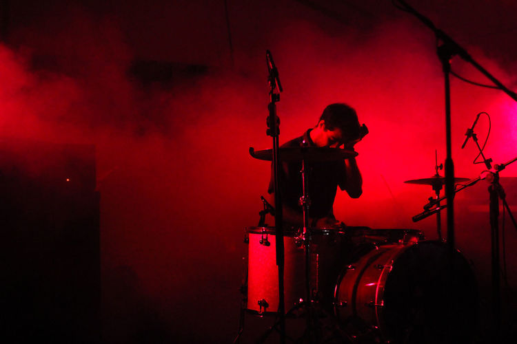 Drum Drummer Live Live Music Music Musician Red Stage