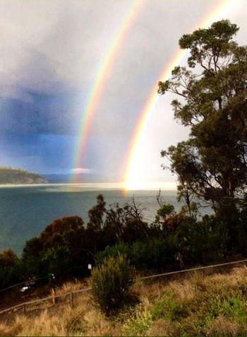 Double Rainbow in Newport Oregon. My Scenery