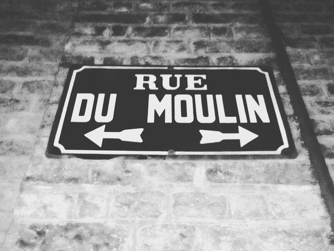 Rue Du Moulin Communication Text Western Script Outdoors Symbol No People Charleroi, Belgium Stone Material