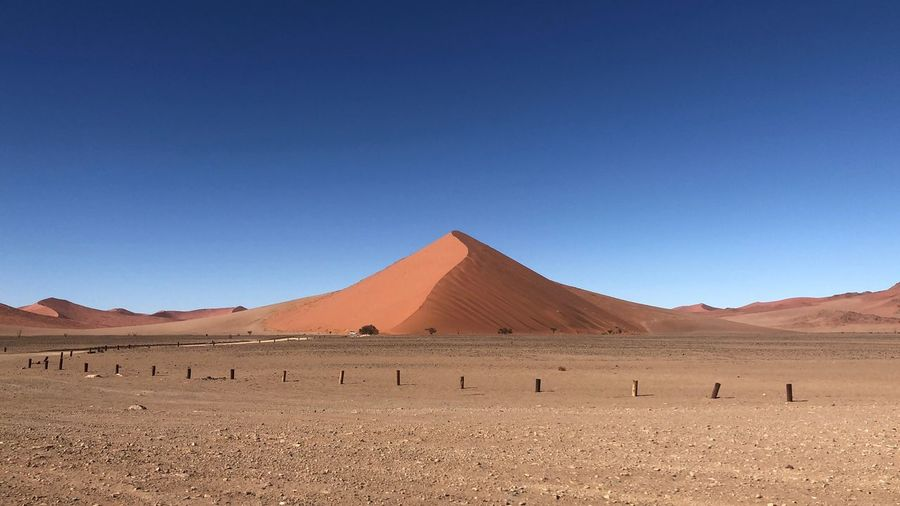 Desert Sky Land Blue Landscape Environment Nature No People