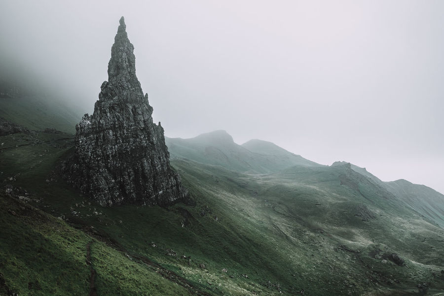 It's all about the mood. Location: Isle Of Skye, Scotland Equipment: Fujifilm X-T1 + XF18-55 Beauty In Nature Fujifilm Hill Idyllic Isle Of Skye Landscape Mood Moody Mountain Mystic Nature Old Man Of Storr Outdoors Rock Rock Formation Rocky Sanctuary  Scenics Schottland Scotland Sky Tranquil Scene Tranquility Travel Travel Destinations The Week On EyeEm The Great Outdoors - 2017 EyeEm Awards Lost In The Landscape Perspectives On Nature