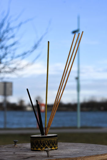 Focus On Foreground No People Water Nature Architecture Day Wood - Material Built Structure Sky Close-up Table Incense Outdoors Belief Building Lake Stick - Plant Part Nikon Travel Destinations Travel Photography