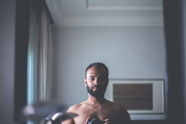 Introspection Close-up Day Indoors  Leisure Activity Lifestyles One Person People Portrait Real People Self Portrait Shirtless Young Adult This Is Masculinity Stories From The City Inner Power End Plastic Pollution Summer Exploratorium Visual Creativity Adventures In The City Focus On The Story This Is My Skin Modern Hospitality The Portraitist - 2018 EyeEm Awards The Fashion Photographer - 2018 EyeEm Awards #urbanana: The Urban Playground Be Brave A New Beginning This Is Natural Beauty A New Perspective On Life Human Connection Capture Tomorrow 2018 In One Photograph #NotYourCliche Love Letter