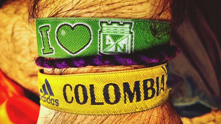 Colombia I Love Colombia Colombian  SeleccionColombia Manillas de futbol