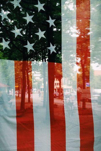 USA Flag Reflection American Flag
