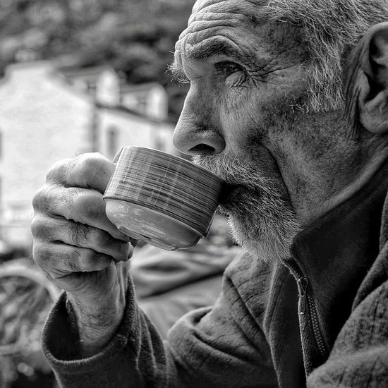 First Eyeem Photo The Portraitist - 2018 EyeEm Awards Manchester Man Tea Time Tea Outdoorsman English Countryside Lake District National Park Portrait Portrait Photography Portraiture Blackandwhite Wrinkled Skin Wrinkles Around Eyes Wrinkled Face Wrinkles Of A Long Life Lived Firefighter Retired Superhero