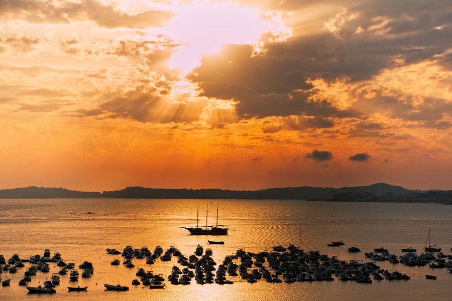 Sunset Silhouette Landscape Beach Nisida Island Posillipo Naples The Great Outdoors - 2017 EyeEm Awards