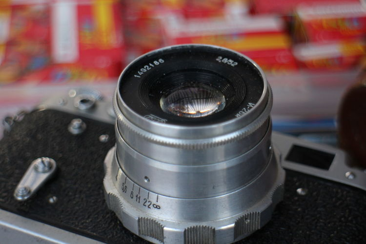 Camera - Photographic Equipment Close-up Day Indoors  Ludlow,film No People Retro,leica, Vintage,optic,russian,lens
