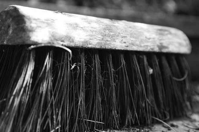 'Brush head' Swept Black And White Bristles Brush Brush Head Brush Up Brushing Up Close-up Monochrome No People Outdoors Sweeping Up Swept Away Swept Clean