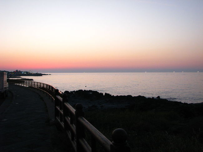 Sunset Sea Horizon Over Water Beach Tranquility Sky Water Tranquil Scene Scenics Silhouette Landscape Travel Destinations Beauty In Nature No People Outdoors Nature Horizon Jeju-do Jeju Island, Korea Variation JEJU ISLAND  Jeju Clear Sky Astronomy Day
