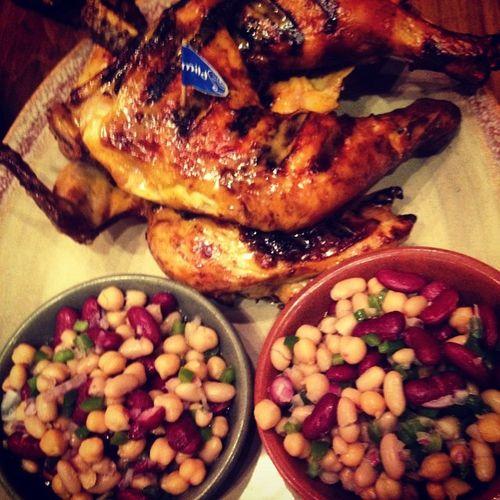 Nandos Birthday Dinner with @shama_ishat @sammerha and Samyn Food Periperi AfroPortuguese Beans