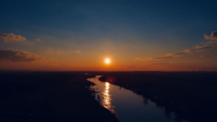 Aerial Shot DJI X Eyeem Aerial Photography Horizon Over Water Nature Outdoors Reflection Sky Sunset Tranquil Scene