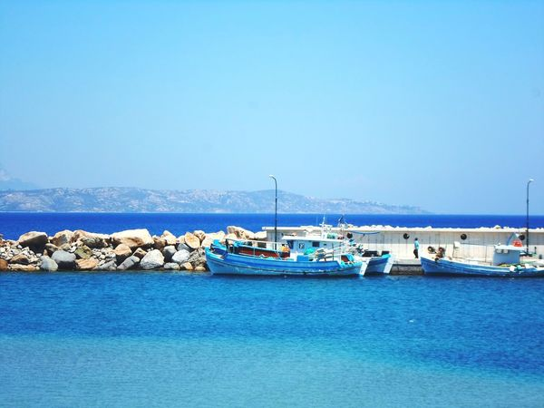 Sea Water Blue Greece Boats⛵️ Niceday Vacation Travel Photography Pier Horizon Over Water Landscape Sky Fazination