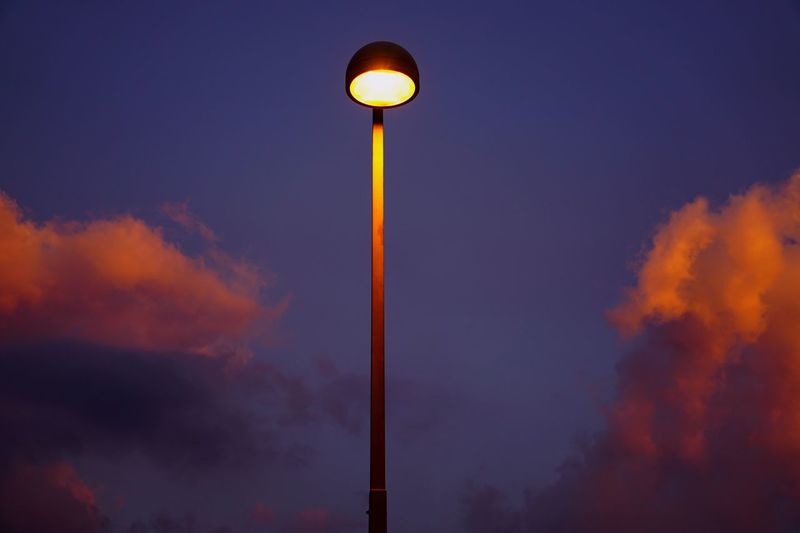 Between Creative Light And Shadow Between The Sky And Me Lamppost Clouds Clouds And Sky Sky And Clouds Sunset Storm Light The Softening Of Day