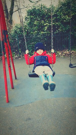 My Boy ❤ Son Swings Park Saltwell Park Fun Cold