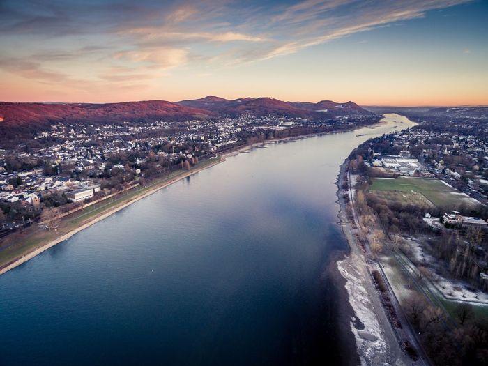 Bonn from above Drohne Rhein Bonn Siebengebirge EyeEm Selects Water Sky Building Exterior City Architecture Beauty In Nature Scenics - Nature
