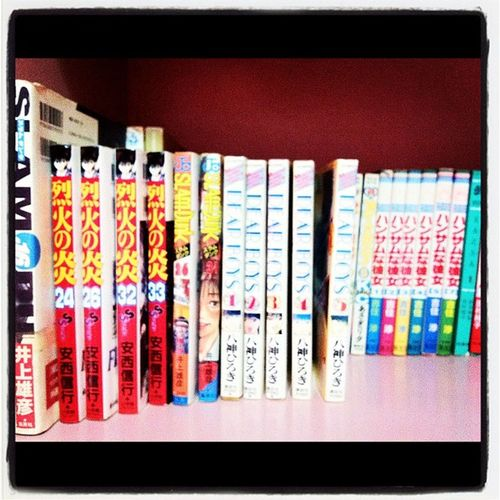 My manga collection of SlamDunk Flameofrecca DearBoys Lovehina inuyasha anime reccanohono manga collection japan jj webstagram popular popularpage iphoneography igerscebu igersmanila