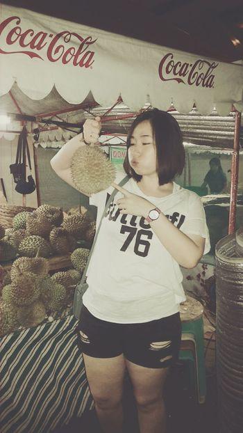 Thats Me  Davao City Hello World Food Trip durian. ;-)