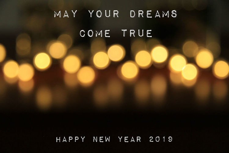 Happy New Year 2019 Happy New Year 2019 Western Script Text Focus On Foreground Technology Illuminated Number Sign Night Message Celebration Event Communication Defocused No People Close-up Resolution Grateful Family Friends Party Celebration Information