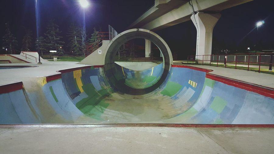 An empty skatepark is a great place. This is Millennium Park in Calgary Alberta. Bmx  Bmxporn Calgary Skate Park Skatepark