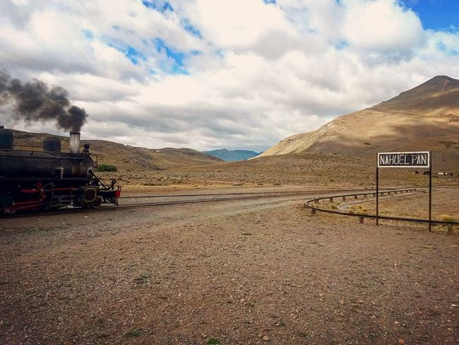 Lost In The Landscape Trochita Nahuel Pan Chubut Argentina Argentina Photography Patagonia Patagonia Patagonia Argentina Cloud - Sky Mountain Sky Mountain Range Landscape No People Outdoors Scenics Rail This Is Latin America Adventures In The City