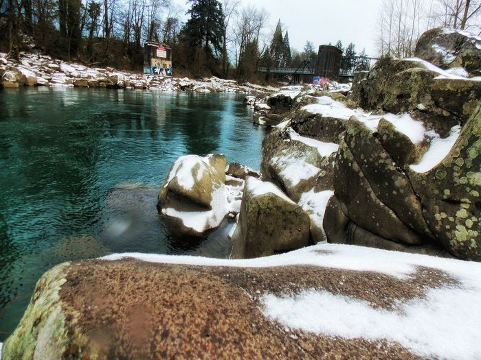 High Rocks Gladstone OR Clackamas River Taking Photos Snow ❄ Enjoying Life Hanging Out