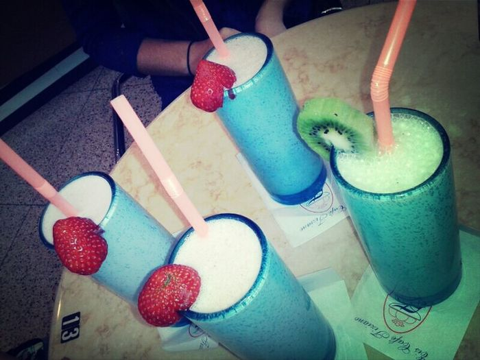 #chillin' #hanging out #shake Hanging Out Chilling Bestfriend Strawberry Shake