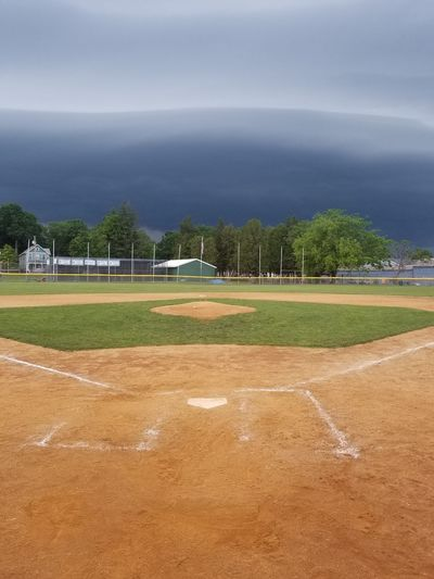 storm rolling in Storm Storm Cloud Storm Clouds Stormy Sky Homeplate Clay Pitchersmound Grey Sky Grass Infield Tennis Tree Sea Beach Sport Sand Playing Field Baseball - Sport Water Baseball Diamond Baseball Team Baseball Player