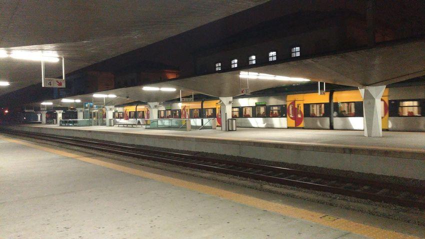 Illuminated Public Transportation Train - Vehicle Rail Transportation Railroad Station City Architecture Built Structure