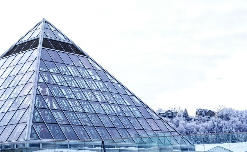 Architecture Building Exterior Built Structure City Day Modern No People Outdoors Pyramid Sky