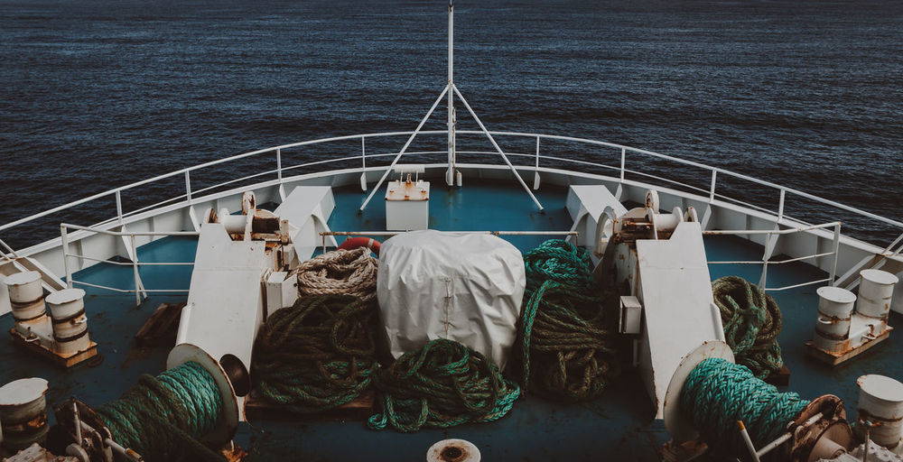 Boat Landscape Mode Of Transport Mood No People Sea Transportation Water