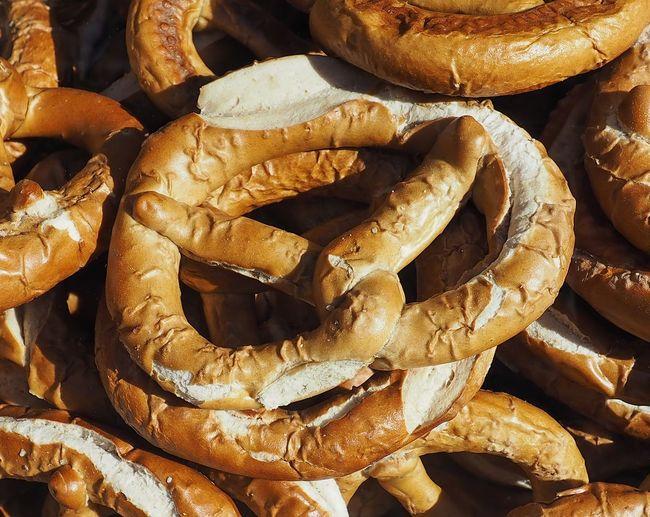 Full frame shot of breads for sale at market