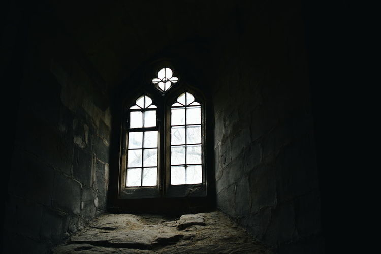 Church Crypt Dark Day Indoors  Light No People Old Stone Underground Window