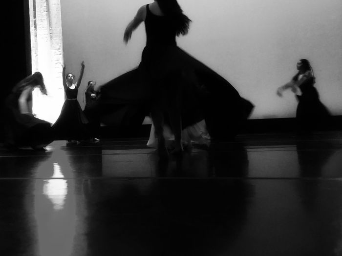 Tech rehearsal Blackandwhite Dancers The Creative - 2018 EyeEm Awards Real People Dancing Women Reflection