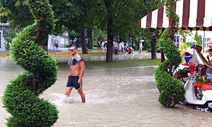 Gelengik . Strong rain. Street . People. Summer Hanging Out Hello World Enjoying Life