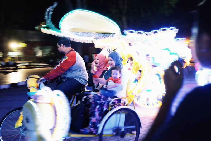 The Journey Is The Destination Trishaw Drift Lights Fun Pleasures Of Life
