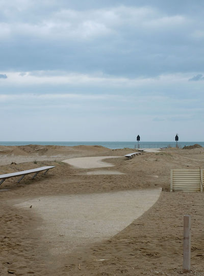 Off-season beach in Rimini Beach Cloud - Sky Coast Day Horizon Over Water Nature Nature Nature Photography No People Off-season Outdoors Path Rainning Day Riminibeach👍😎 Sand Scenics Sea Sky Track Tranquility Water Fujifilm Xm1